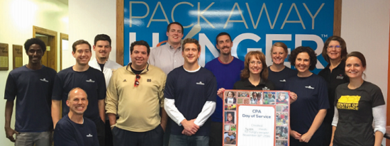Lemler Group volunteering at Pack Away Hunger