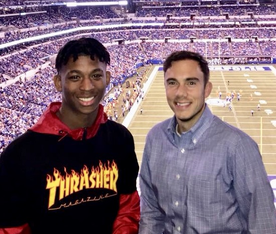 Emanuel and David at the Colts game